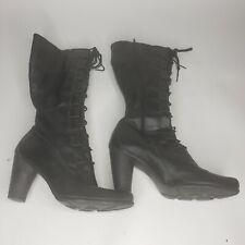 Timberland Womens High Heel Boots 3 1/4 Inch Heel Black Size 9