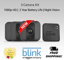 New Blink Xt (3 Camera Kit) Home Security Camera 1st Gen w/ Sync Module