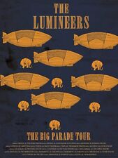 "The Lumineers ""The Big Parade Tour"" 2012 Concert Poster - Americana Folk Rock"