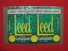 LEED Lemonade Unrolled Can Flat Coca Cola Australia Rare Vintage Soda Sign Tin