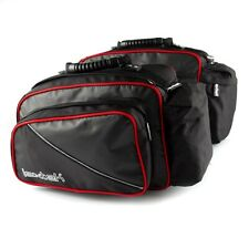 Universal Motorcycle Scooter Throw Over Lextek  Luggage Panniers 50L Top Value