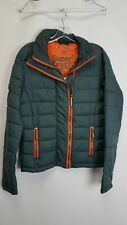 Superdry Teal Fuji Double Zip Puffer Jacket Sz M