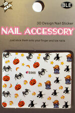 Halloween - Sticker, Nagelsticker,Nailart ,Tattoo,Spinne,Kürbis,Hexe,Geist E065