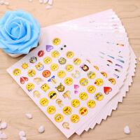 Kit 19 fogli adesivi adesivo sticker decorazione emoticon smiley emoji faccine