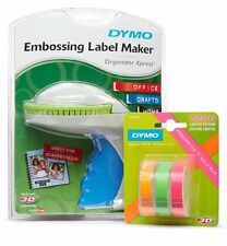 DYMO Organizer Xpress Embossing Label Maker with 3 Bonus Neon Embossing Labels,