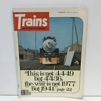 Trains The Magazine Of Railroading Back Issue February 1977 Andover Afterward TM