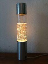 Superbe Lampe à paillettes cylindrique  Des années 70's     100% vintage