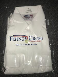 Flying Cross White Uniform Shirt 34 Duro Poplin s/s