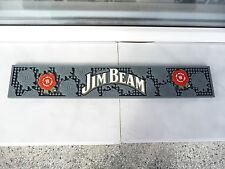Jim Beam bar mat whisky grey rubber used rare bar