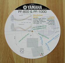 Yamaha PF-800 & PF-1000 Custom Designed Tonearm Cartridge Alignment Protractor