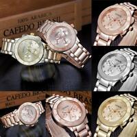 Fashion Ladies Women Unisex Stainless Steel Watch Luxury Quartz Wrist Watches