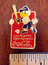 1984 LA OLYMPICS COCA COLA L.A. DODGERS STADIUM  SAM EAGLE BASEBALL LICENSED PIN