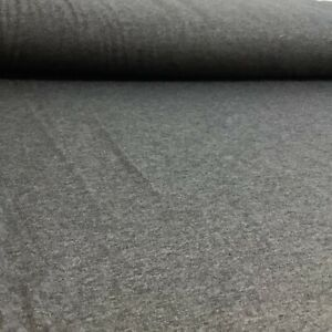 Grey Melange Solid Colour, Cotton / Modal Jersey, Stretchy Dressmaking Fabric