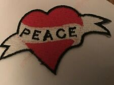 Alien Peace I Come In Peace Symbol 4.5cmx8.5cm Embroidered Sew or Iron on Badge
