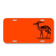 Antelope Animal Biology Mammal On License Plate Car Front Add Names