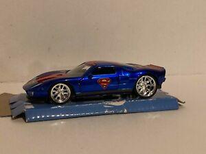 JADA 1:32 DC COMICS SUPERMAN 2005 BLUE FORD GT DIECAST MODEL CAR 31717