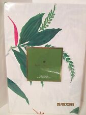 """KATE SPADE """"TRELLIS BLOOMS"""" WHITE FLORAL 70 INCH ROUND TABLECLOTH..NEW"""