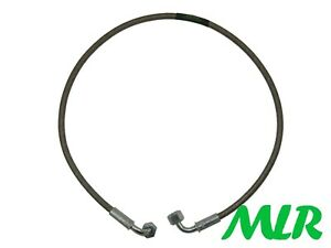 ESCORT RS TURBO STAINLESS & PLATED STEEL BRAIDED TURBO OIL FEED HOSE PIPE YN