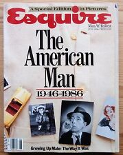 ESQUIRE JUN 1986 THE AMERICAN MAN 1946-1986 HUMPHREY BOGART SINATRA HEMINGWAY