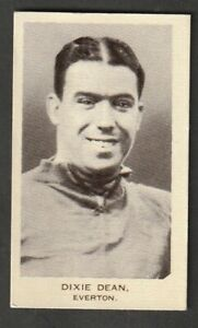 United Services tobacco Soccer FOOTBALL EVERTON Dixie Dean issued 1936