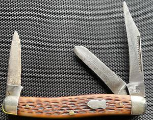 Schrade USA 881 3 Blade Stockman Pocket Knife