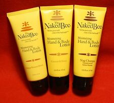 The Naked Bee 3-2.25 oz Moisturizing Hand and Body Lotions in 3 different Scents