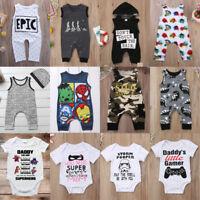 Newborn Infant Baby Outfits Boy Girl Cartoon Bodysuit Romper Jumpsuit Clothes