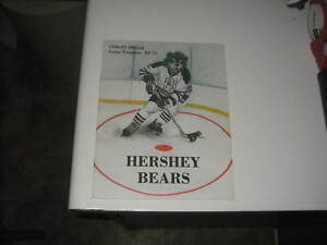 12/13/86 HERSHEY BEARS VS BALTIMORE SKIPJACKS AHL UNSCORED PROGRAM CRAIG BERUBE
