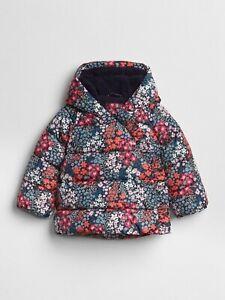GAP ColdControl Max Print Puffer Dark Night Jacket - Size 6-12 months , BNWT