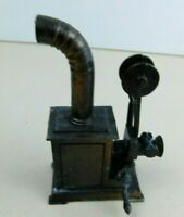 Vintage Die Cast Metal Miniature Antique Movie Projector Pencil Sharpener W/ Box