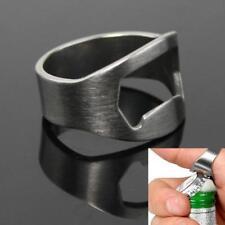1PCS Stainless Steel Finger Thumb Ring Bottle Open Opener Bar Beer Tool Silver