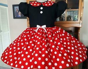 """Annemarie-Adult Sissy Baby Girl Dress Lolita  """"Minnie Mouse"""" Read to Ship"""