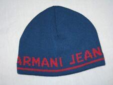 4969271c22773 BNWT - ARMANI JEANS Wool Blend Knitted Beanie Hat Steel Blue Medium