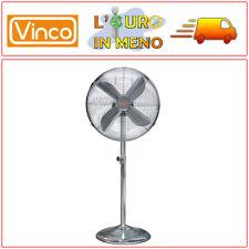 VENTILATORE A PIANTANA VINCO 70701 METALLO CROMATO 4 PALE 50 WATT 3 VELOCITA'