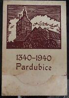 1940 Pardubitz Bohemia Moravia Germany Postcard Cover FDC Six Centenary