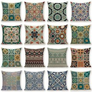 Art Cotton Linen Pillow Case Bohemia Sofa Waist Throw Cushion Cover Home Decor