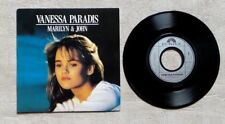 "S DISQUE VINYLE 45T 7"" SP / VANESSA PARADIS ""MARILYN & JOHN"" 1988 POP"