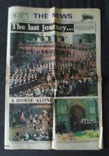Portsmouth News Newspaper Sept 6 1979 Funeral of Earl Mountbatten of Burma.