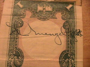 1944 Philippines 1 Peso US GI Signed VF WWII Japan Banknote Currency Paper Money