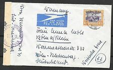 South West Africa covers Censored Airmailcover to Köln