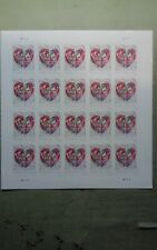 """""""Quilled Paper Heart"""" Imperforate 5036b, pane of 20, major 2016 error"""
