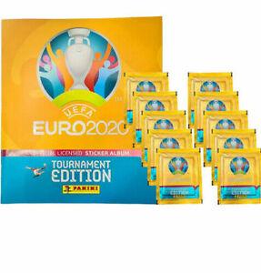 Panini EURO 2020 Tournament Edition - empty album + 10 packs of stickers NEW