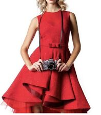 boutique red cocktail prom wedding bridesmaid dress Medium mesh NWT Reg $295