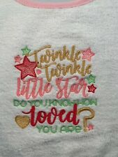 Twinkle, Twinkle Little Star Embroidered Baby Bib NEW! Girl Pink, Gold. & Green