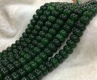 "Natural 5x8mm Dark Green Emerald Gemstone Rondelle Loose Beads Strand 15"" AAA+"