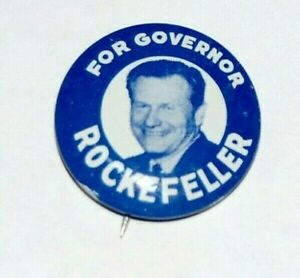 1958 NELSON ROCKEFELLER for GOVERNOR NY campaign pin pinback button political