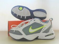 New Nike Air Monarch White Grey Volt  Running Shoes sz 10