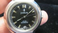 CORUM~Men's Automatic Date~Stainless Steel Bracelet Watch~All Swiss~Estate~WOW!