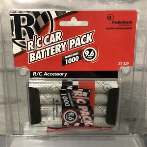 Genuine Radio-Shack 9.6V 1000mAh NI-Cd Rechargeable RC Car Battery w Tamiya Plug