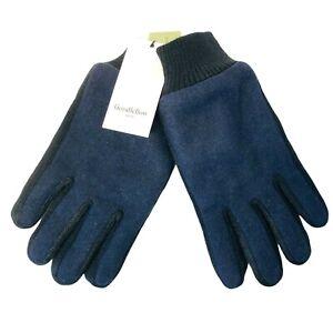 Goodfellow Mens Winter Gloves Size XL Tech Touch Wool Blend Navy Blue NWT Fleece